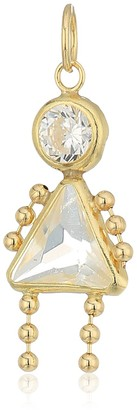 Amazon Collection 10K Gold AAA Cubic Zirconia Simulated Birthstone Babies Girl Charm April