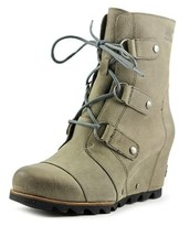 Sorel Joan Of Arctic Wedge Round Toe Leather Winter Boot.