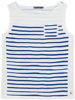 Petit Bateau Womens sleeveless sailor top