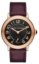 Marc Jacobs Riley Rose Goldtone Stainless Steel & Leather Strap Watch