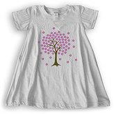 Urban Smalls Heather Gray Floral Tree Cap-Sleeve Tent Dress - Toddler & Girls