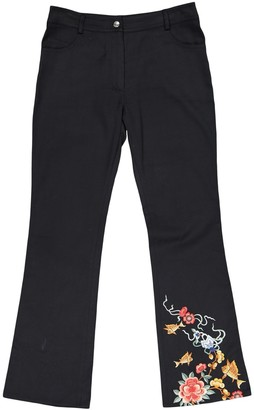 Christian Dior Black Cotton Trousers for Women Vintage