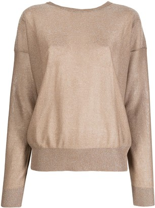 Liu Jo Open-Back Lurex Jumper