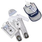 Baby Aspen Infant Trendy Baby Footie, Cap & Bib Set