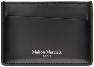 Maison Margiela Black Croc Leather Card Holder