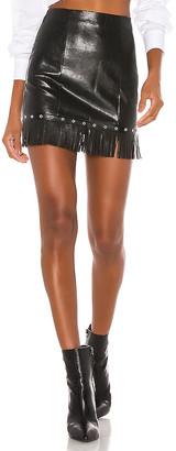 superdown Selene Fringe Mini Skirt