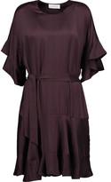 Zimmermann Tie-Front Washed-Silk Peplum Dress