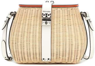 Prada Rattan shoulder bag
