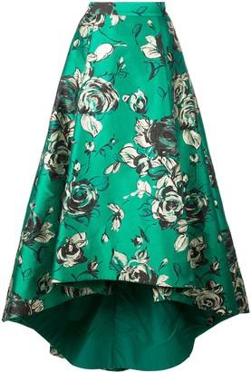 Alice + Olivia Asymmetric Pleated Skirt