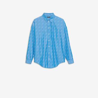 Balenciaga Allover Logo Cocoon Shirt