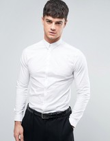 New Look New Look Smart Shirt In White In Slim Fit