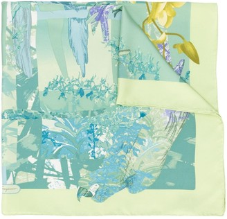 Salvatore Ferragamo Pre Owned Floral Print Scarf