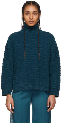 Fendi Blue Forever Embossed Sweater
