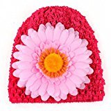 Sunfei Toddlers Infant Baby Girl Chrysanthemum Hollow Out Hat Headwear Hat (Red)
