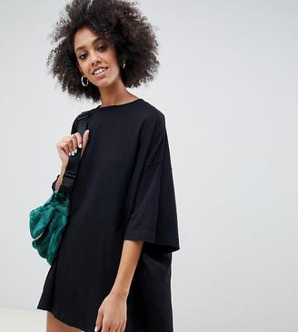 Weekday Huge T-Shirt Dress in black