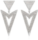 Alessandra Rich triangle cutout crystal earrings
