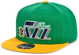 Mitchell & Ness New Orleans Jazz Wool 2 Tone Fitted Cap