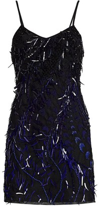 Alberta Ferretti Embellished Mini Cocktail Dress