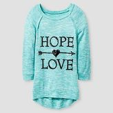 Miss Chievous Girls' Sequins Hope Love High Low Tunic - Blue