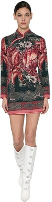 F.R.S For Restless Sleepers Crespo Printed Silk Foulard Mini Dress