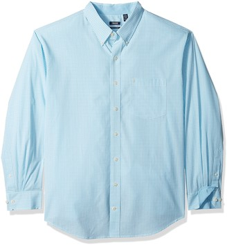 Izod mens Big and Tall Long Sleeve Performance Gingham (Discontinued) Button Down Shirt