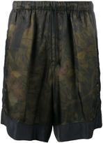 Dries Van Noten camouflage print shorts