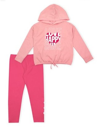 Aeropostale p.s.09 from Graphic Fleece Hoodie and Legging, 2-Piece Outfit Set (Little Girls)