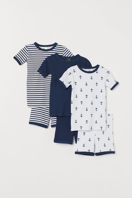 H&M 3-pack Jersey Pajamas - Blue