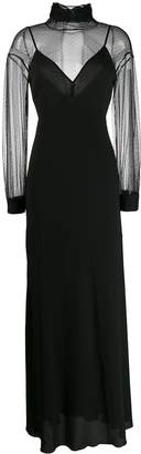 Blumarine Be sheer panels dress