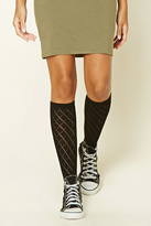 Forever 21 Knee-High Open-Knit Socks