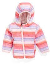 The North Face Infant Girl's 'Mossbud' Reversible Water Repellent Jacket