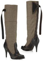 Houndstooth Tall Boot