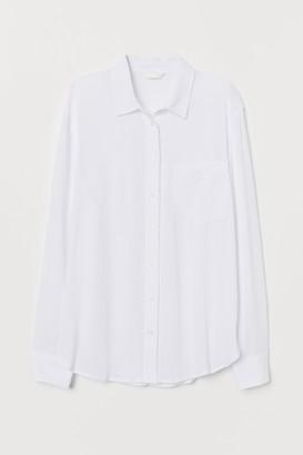 H&M Crinkled shirt