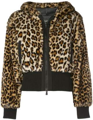 Moschino cropped leopard print jacket