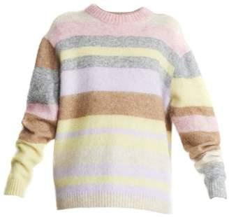 Acne Studios Kablah Striped Mohair-Blend Crewneck Sweater