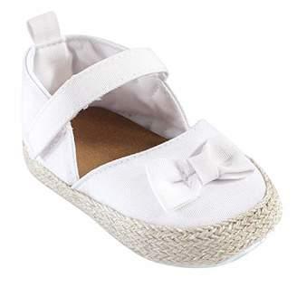 Luvable Friends Girls' Bow Espadrille Wedge Sandal