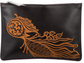 Creatures of the Wind Embroidered Leather Clutch