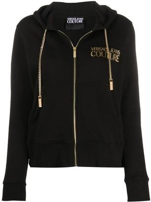 Versace Logo-Print Zipped Hoodie