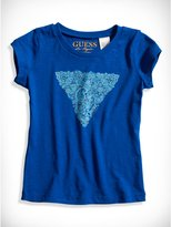 GUESS Little Girl Paisley Triangle Tee (2-6x)