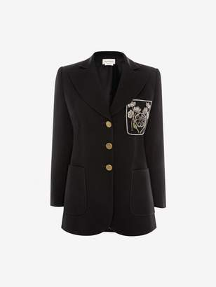 Alexander McQueen Patch Pocket Wool Silk Jacket