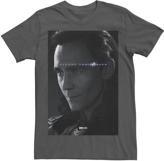 Marvel Men's Avengers: Endgame Loki Avenge The Fallen Poster Tee