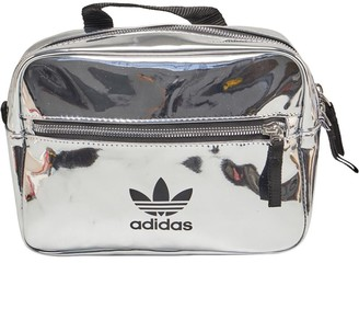 adidas Womens Mini Airliner Backpack Silver Metallic