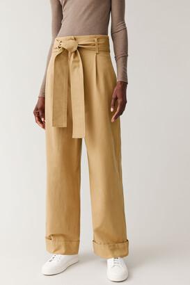 Cos Wide-Leg Cotton Pants
