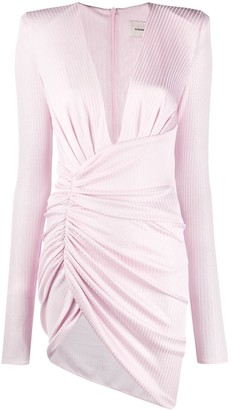 Alexandre Vauthier Ribbed Knit Ruched Style Dress