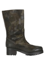 Strategia 50mm Camouflage Printed Leather Boots