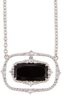 Judith Ripka Sophia Onyx Cushion Pendant Necklace
