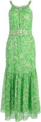 Nicholas Paisley Print Belted Dress