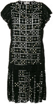 Chloé faux pearl embellished embroidered dress