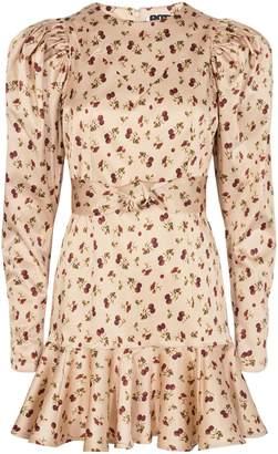 Rotate by Birger Christensen Shelly Raspberry-Print Mini Dress