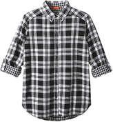 Joe Fresh Women's Plaid Button Down Shirt, Off White (Size M)
